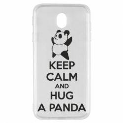 Чохол для Samsung J7 2017 KEEP CALM and HUG A PANDA