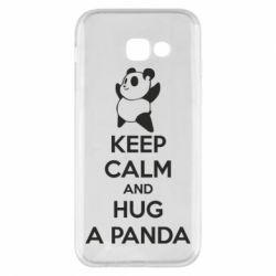 Чохол для Samsung A5 2017 KEEP CALM and HUG A PANDA