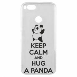 Чохол для Xiaomi Mi A1 KEEP CALM and HUG A PANDA