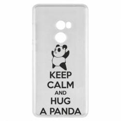 Чехол для Xiaomi Mi Mix 2 KEEP CALM and HUG A PANDA