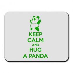 Килимок для миші KEEP CALM and HUG A PANDA