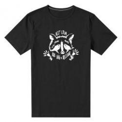 Чоловіча стрейчева футболка Keep calm and hug a raccoon