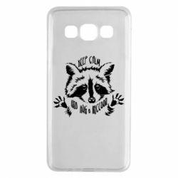 Чохол для Samsung A3 2015 Keep calm and hug a raccoon