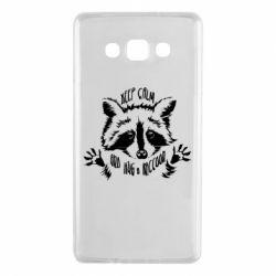 Чохол для Samsung A7 2015 Keep calm and hug a raccoon