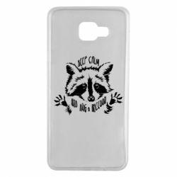 Чохол для Samsung A7 2016 Keep calm and hug a raccoon