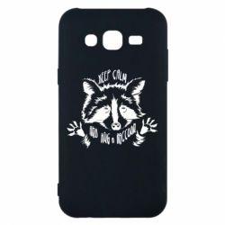 Чохол для Samsung J5 2015 Keep calm and hug a raccoon