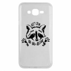 Чохол для Samsung J7 2015 Keep calm and hug a raccoon
