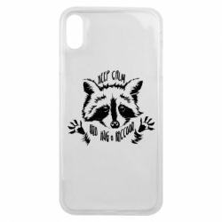 Чохол для iPhone Xs Max Keep calm and hug a raccoon