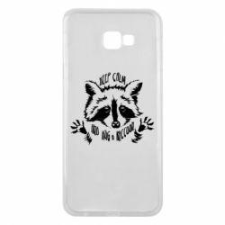 Чохол для Samsung J4 Plus 2018 Keep calm and hug a raccoon