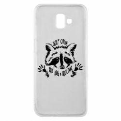 Чохол для Samsung J6 Plus 2018 Keep calm and hug a raccoon