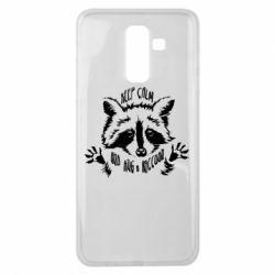 Чохол для Samsung J8 2018 Keep calm and hug a raccoon