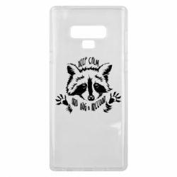 Чохол для Samsung Note 9 Keep calm and hug a raccoon