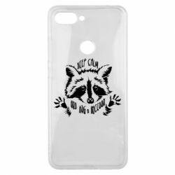 Чохол для Xiaomi Mi8 Lite Keep calm and hug a raccoon