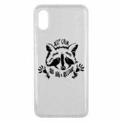 Чохол для Xiaomi Mi8 Pro Keep calm and hug a raccoon