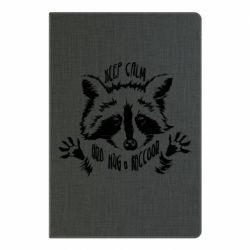 Блокнот А5 Keep calm and hug a raccoon
