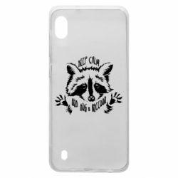 Чохол для Samsung A10 Keep calm and hug a raccoon