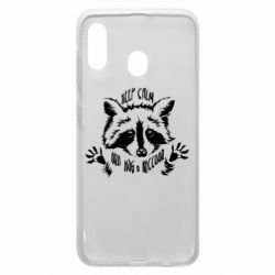 Чохол для Samsung A20 Keep calm and hug a raccoon