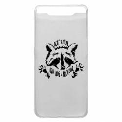 Чохол для Samsung A80 Keep calm and hug a raccoon