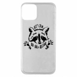 Чохол для iPhone 11 Keep calm and hug a raccoon