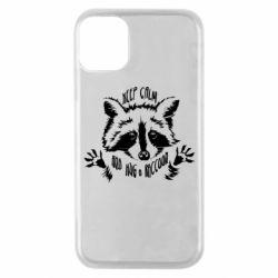 Чохол для iPhone 11 Pro Keep calm and hug a raccoon