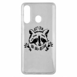 Чохол для Samsung M40 Keep calm and hug a raccoon