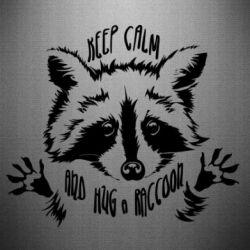Наклейка Keep calm and hug a raccoon