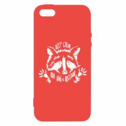 Чохол для iphone 5/5S/SE Keep calm and hug a raccoon