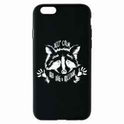 Чохол для iPhone 6/6S Keep calm and hug a raccoon