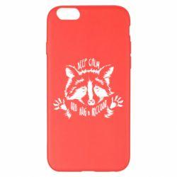 Чохол для iPhone 6 Plus/6S Plus Keep calm and hug a raccoon