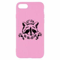 Чохол для iPhone 7 Keep calm and hug a raccoon