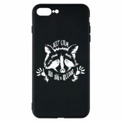 Чохол для iPhone 7 Plus Keep calm and hug a raccoon