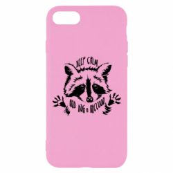 Чохол для iPhone 8 Keep calm and hug a raccoon