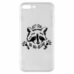 Чохол для iPhone 8 Plus Keep calm and hug a raccoon