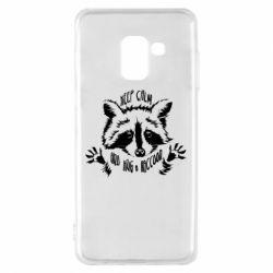Чохол для Samsung A8 2018 Keep calm and hug a raccoon