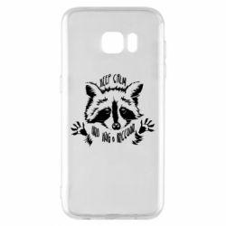 Чохол для Samsung S7 EDGE Keep calm and hug a raccoon