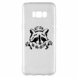 Чохол для Samsung S8+ Keep calm and hug a raccoon