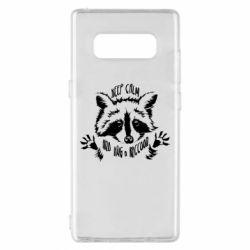 Чохол для Samsung Note 8 Keep calm and hug a raccoon