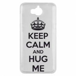 Чехол для Huawei Y5 2017 KEEP CALM and HUG ME - FatLine