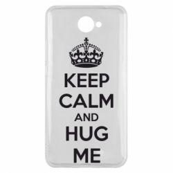 Чехол для Huawei Y7 2017 KEEP CALM and HUG ME - FatLine