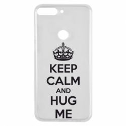 Чехол для Huawei Y7 Prime 2018 KEEP CALM and HUG ME - FatLine
