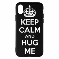Чохол для iPhone X/Xs KEEP CALM and HUG ME