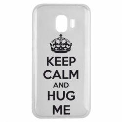 Чохол для Samsung J2 2018 KEEP CALM and HUG ME