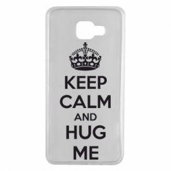 Чохол для Samsung A7 2016 KEEP CALM and HUG ME
