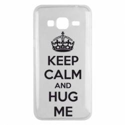 Чохол для Samsung J3 2016 KEEP CALM and HUG ME