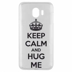 Чохол для Samsung J4 KEEP CALM and HUG ME