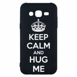 Чохол для Samsung J5 2015 KEEP CALM and HUG ME