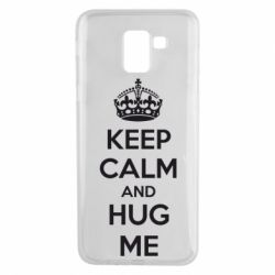 Чохол для Samsung J6 KEEP CALM and HUG ME