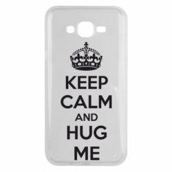 Чохол для Samsung J7 2015 KEEP CALM and HUG ME