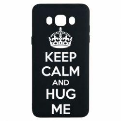 Чохол для Samsung J7 2016 KEEP CALM and HUG ME