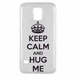 Чохол для Samsung S5 KEEP CALM and HUG ME
